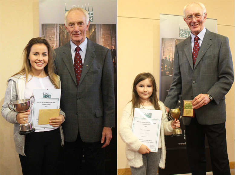 Tiamay Bunce (int.) & Tiana Towers (jnr.) winners with Eric Burton